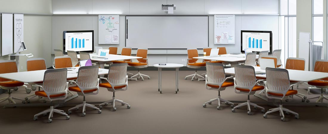 Private School, Steelcase Groupwork Tables with Steelcase Cobi chairs